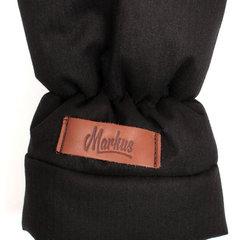 Markus. Меховые варежки для коляски Mitt Limited, черные вид 2