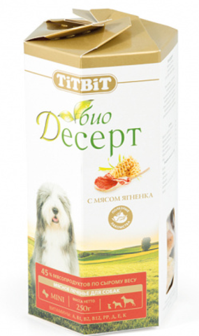 Titbit Био Десерт печенье с ягненком мини 250г