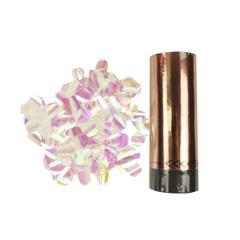 Хлопушка пружинная Розовое золото (конфетти хамелеон), 10см, 1шт