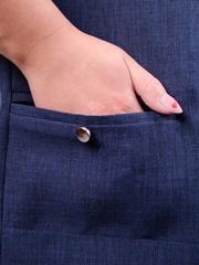 Омега лён. Жакет женский больших размеров. Синий.