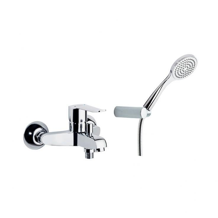 Смеситель для ванны с изливом и душевым комплектом YPSILON PLUS 6405T1
