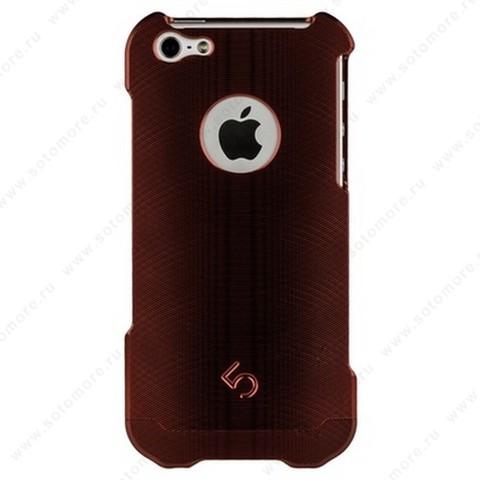 Накладка 4th металлическая M2 для iPhone SE/ 5s/ 5C/ 5 красная