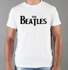 Футболка с принтом Битлз (The Beatles) белая 0010