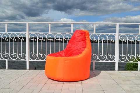Кресло-мешок «Комфорт» Оранжево-красный