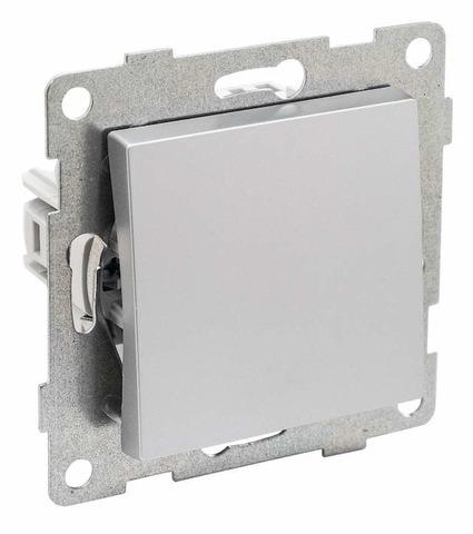 Выключатель одноклавишный, 10 А 220/250 В~. Цвет Серебро. Ugra GUSI Electric. С11В1-004