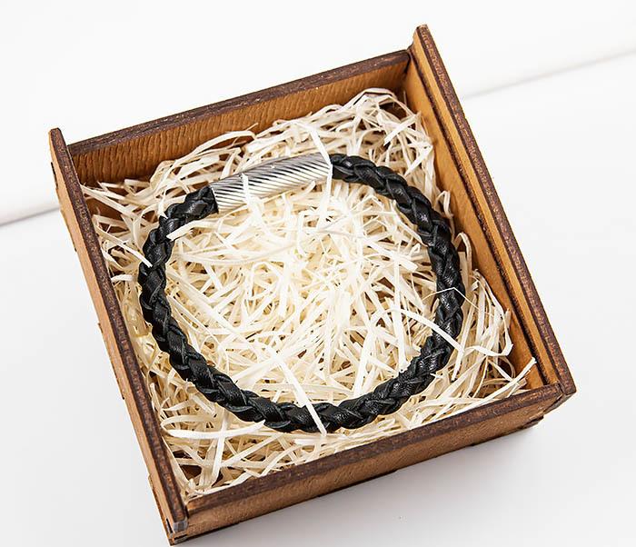 BL786-1 Браслет из кожаного шнура ручного плетения фото 09