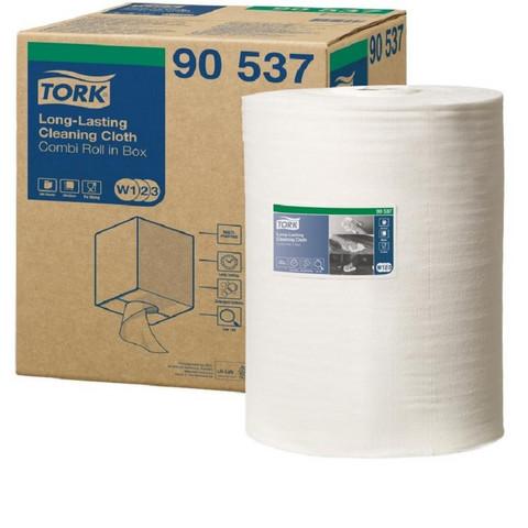 Нетканый протирочный материал Tork 90537 W1/W2/W3 белый (114 метров в рулоне)