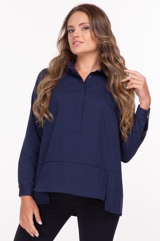 Рубашка для беременных 11884 синий