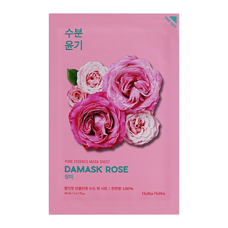 Увлажняющая тканевая маска, дамасская роза Holika Holika  Pure Essence Mask Sheet Damask Rose