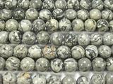 Нить бусин из яшмы Карта, шар гладкий 10мм