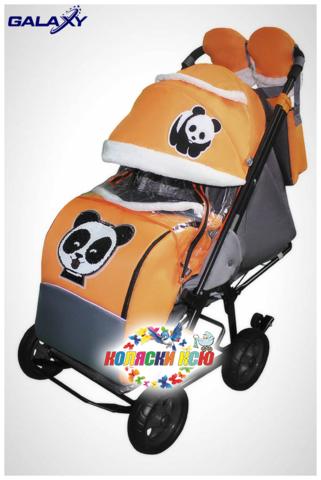 Санки коляска GALAXY CITY-1 «оранжевый»