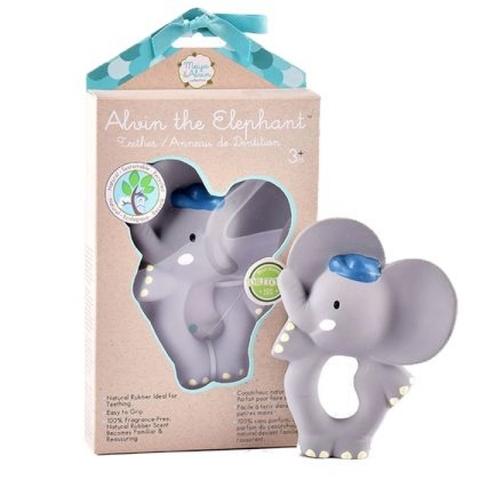 Игрушка-прорезыватель из натурального каучука слоник Alvin