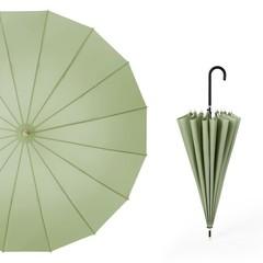 Японский зонт трость 16 спиц AKSISUR оливковый