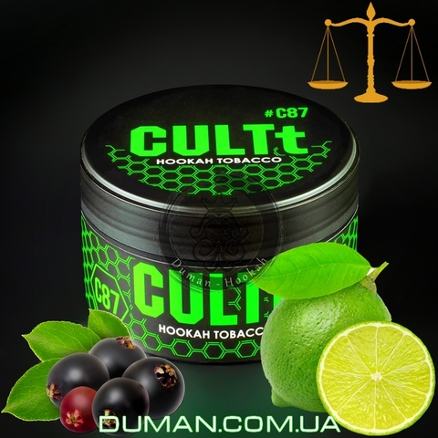 Табак CULTt C87 Lime Elderberry  (Культ Лайм Бузина)  На вес 25г