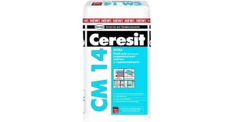 Клей для керамической плитки и керамогранита Ceresit CМ 14 Extra