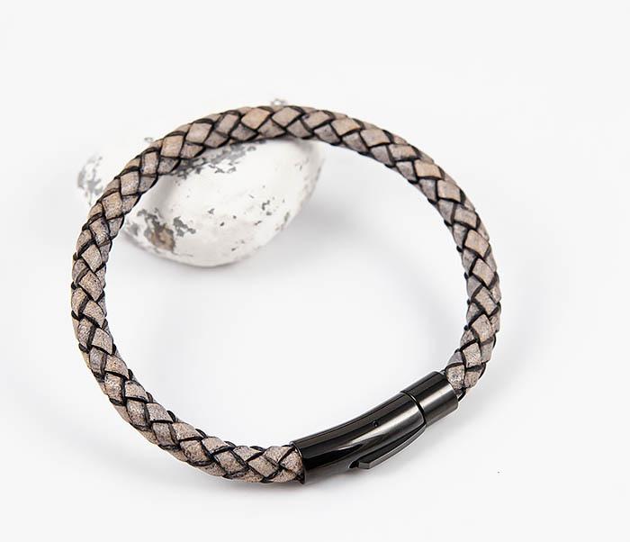 BM517-3 Мужской браслет шнур из натуральной кожи фото 05