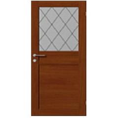 Дверное полотно со стеклом филенчатое 2/9 экошпон вишня 2000х900х38мм