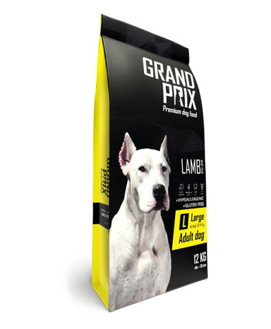 Grand Prix Large Adult сухой корм для взрослых собак крупных пород с ягненком 12 кг