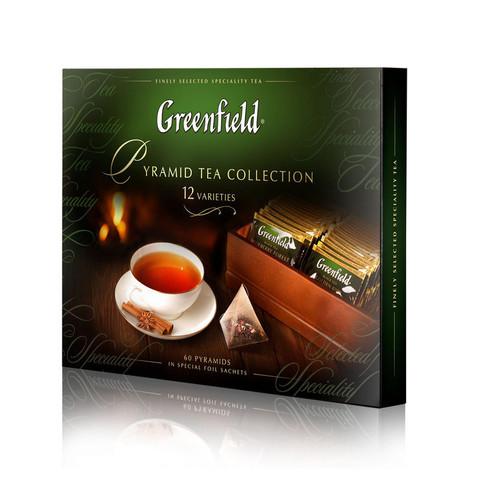 Чай Greenfield Pyramid Tea Collection ассорти 60 пакетиков