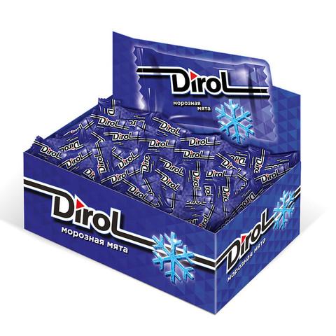 Жевательная резинка DIROL Морозная Мята 272г