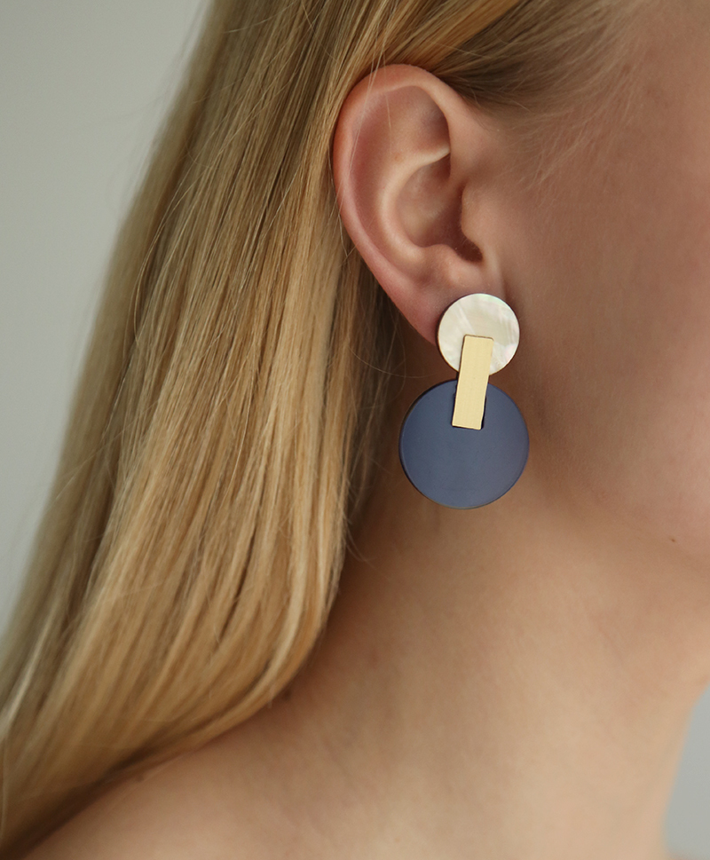 Серьги Celeste Earrings Navy
