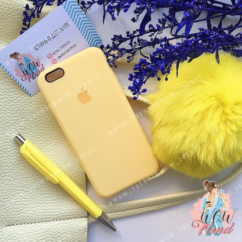 Чехол iPhone 6/6s Silicone Case /yellow/ желтый original quality
