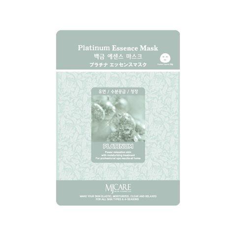 Маска тканевая увлажняющая MJ CARE Platinum Essence Mask 23 гр