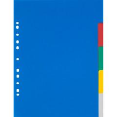 Разделитель листов Attache А3 пластиковый 5 листов разноцветный (290х420 мм)