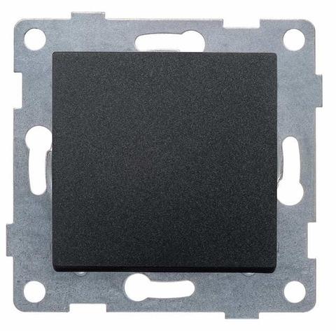 Выключатель одноклавишный, 10 А 220/250 В~. Цвет Графит. Ugra GUSI Electric. С11В1-010