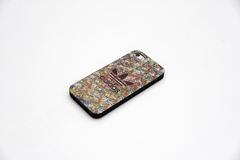 Чехол для iPhone 5 / 5S мягкий силикон с ламинированным принтом №1