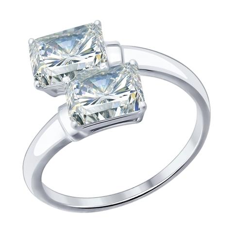 94012075- Кольцо  из серебра с фианитами