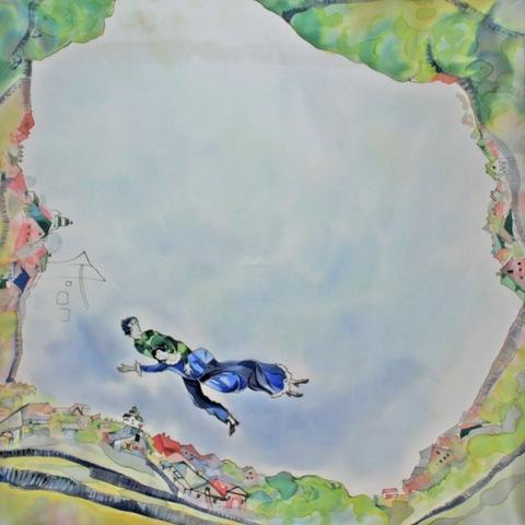 Платок батик Над городом (М.Шагал) С-60