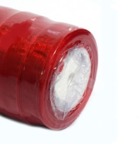 Лента органза (размер:15 мм 25 ярдов) Цвет:красный