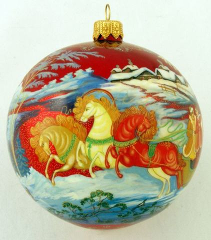 Шар новогодний ( полная роспись)