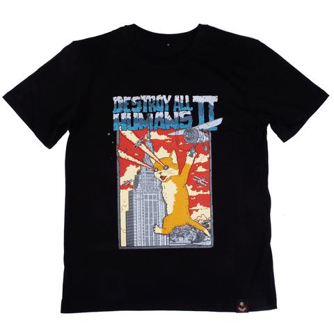 Кэтзилла (двусторонняя) футболка