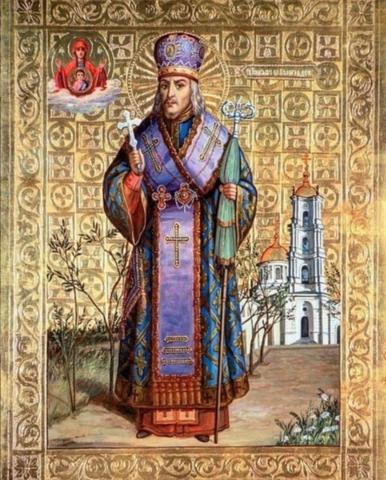 Икона святой Иоасаф Белгородский на дереве на левкасе  мастерская Иконный Дом