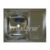Мойка накладная левая 600х800х160 (0,4 мм) вып 1 1/2, MIXLINE