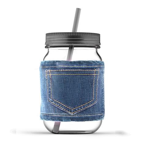 Кружка Asobu Jeans jar (0,75 литра), серая