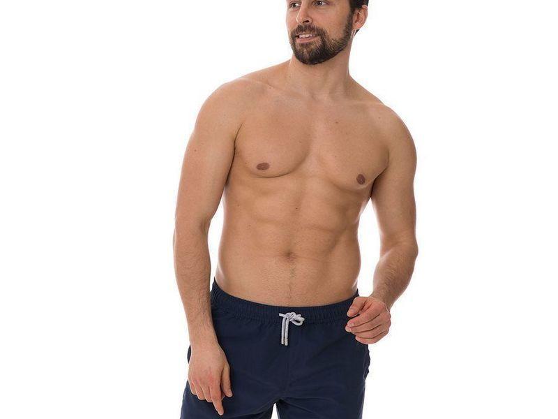 Шорты пляжные мужские темно-синие JOHN FRANK