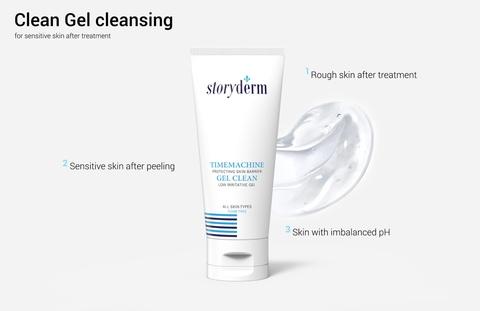 Очищающий и увлажняющий гель для умывания для чувствительной, раздраженной кожи, 100 мл / Storyderm Timemachine Gel Clean