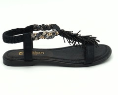 Черные сандали на сплошной подошве
