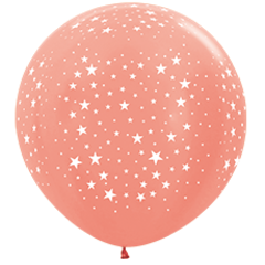 S 36''/91см, Звезды, Розовое золото (568), металлик, 5 ст. / 1 шт. /
