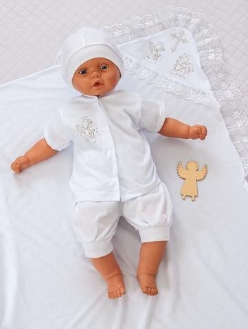 Набор для крещения мальчика Белый