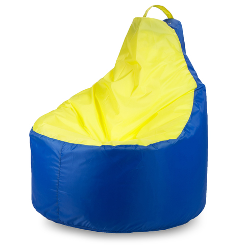 Бескаркасное кресло «Комфорт», Синий и желтый