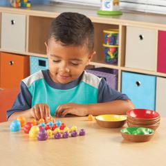 учим счет с Набором для сортировки Цветные гнёздышки Learning Resources