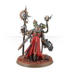 Adeptus Mechanicus Tech-Priest Dominus. Миниатюра сзади