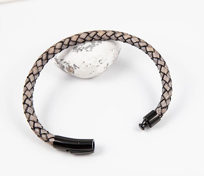 BM517-3 Мужской браслет шнур из натуральной кожи фото 06
