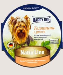 Паштет для собак Happy Dog Телятина с рисом