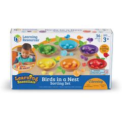 Набор для сортировки Цветные гнёздышки Learning Resources, упаковка