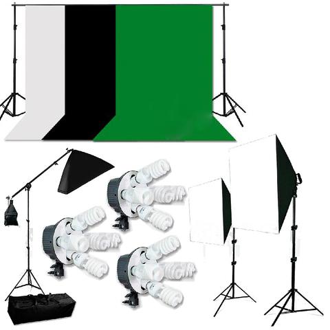 Комплект постоянного света с тремя фонами Fotokvant FL-16 Kit